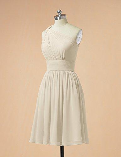 Dress Asymmetric Alicepub Short Champagne Prom Gown Bridesmaid Chiffon Party Evening Dress dPwBIq