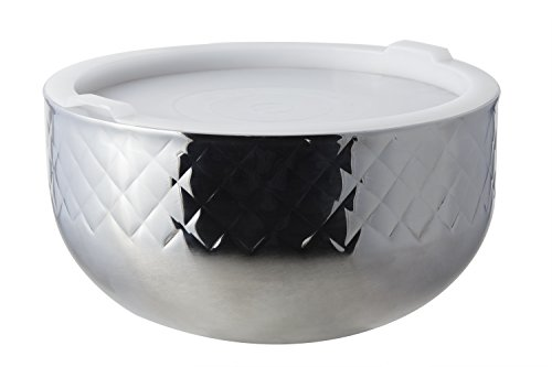 Bon Chef 9316DI Stainless Steel 3 Wall Diamond Collection Cold Wave Bowl with Cover, 7 quart Capacity, 11-7/8'' Diameter x 6-1/2'' Height by Bon Chef