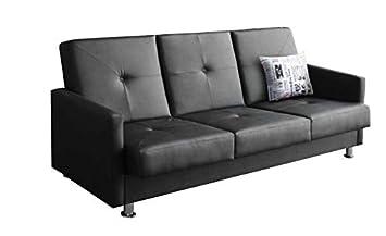 mb-moebel kleines Sofa mit Schlaffunktion und Bettkasten Wohnzimmer ...
