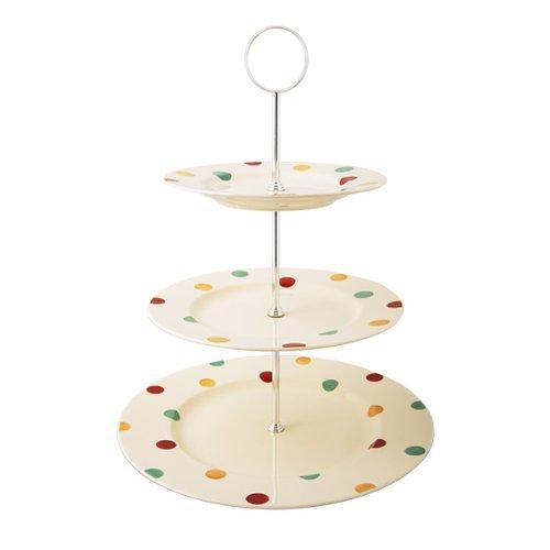 platos crema con motas Carnival Fairmont /& Main Earthenware Soporte para tartas de 4 pisos