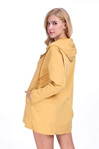 Capuche Poids Yellow Coupe Vent Impermable Actif extrieur Femme Impermable lger x4vqtfw7