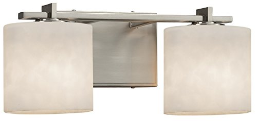(Justice Design Group Lighting CLD-8443-30-CROM-LED3-2100 Era LED 3-Light Bath Bar-Polished Chrome Finish with Clouds Oval Shade)