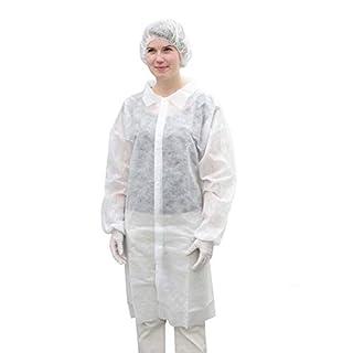 Valutek 100% Spunbound Polypropylene Cleanroom Labcoat (X-Large)