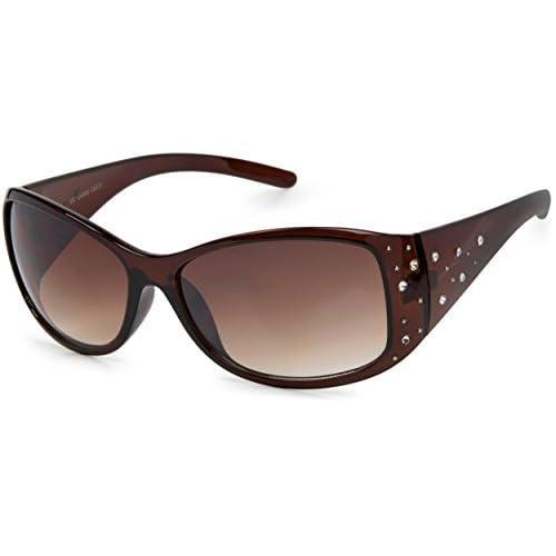 b2618af822 styleBREAKER gafas de sol con piedras de estrás y degradadas, forma de  mariposa, mujeres