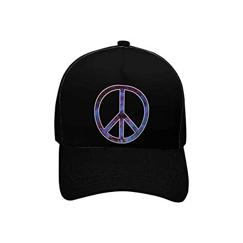 (INTERESTPRINT Galaxy Peace Sign Unisex Vintage Baseball Cap Twill Adjustable Dad Hat with Funny Sayings, Black)