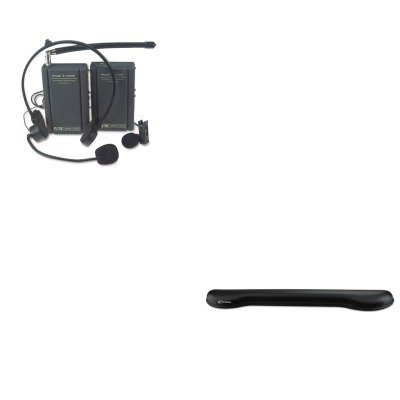 KITAPLS1601IVR51451 - Value Kit - Amplivox Wireless Lapel and Headset Microphone Kit (APLS1601) and Innovera Softskin Gel Keyboard Wrist Rest (IVR51451) by Amplivox