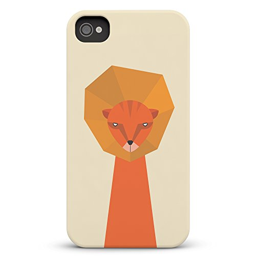 Koveru Back Cover Case for Apple iPhone 4/4S - Thinking Lion