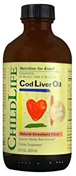 Childlife Cod Liver Oil Natural Strawberry -- 8 fl oz - 2pc by Child Life