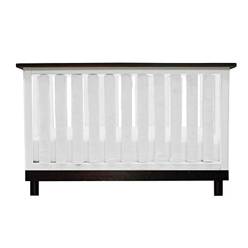 PURE SAFETY Vertical Crib Liners 24 Pack in Luxurious White Minky