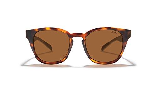 Zeal Optics Unisex Windsor Matte Tortoise/Polarized Copper Lens One - Sunglasses Zeal Warranty