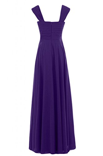 lungo Charming V Empire Regency Sunvary Gowns a con Pageant Bridesmaid scollo abito 8wqaOdxAY