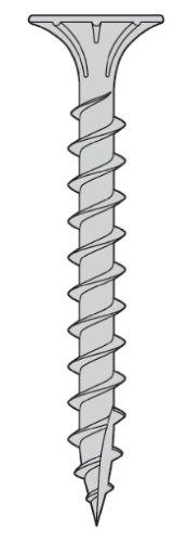 - 8 x 2 1/4 Fiber Cement Board Screws 17pt 316SS - Carton 1000pcs