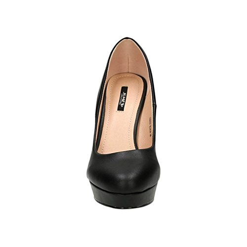 King Of Shoes Klassische Damen Pumps Stilettos High Heels Plateau Abend Schuhe Bequem 321 Schwarz