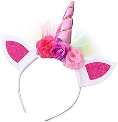 BESTOYARD 3 Diademas de Unicornio para niña, Diademas con diseño ...