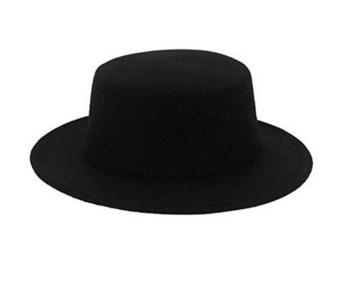 Classic Unisex Wool Blend Fedora Hat Brim Flat Church Derby Cap Wide Brim  Classic Pork Pie 865cddcd4267