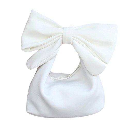 HCFKJ Blanc Space Pour Sac Main à Lovely De Femmes Mode Bowknot Les Coton CosméTique Accessoires rxx6H