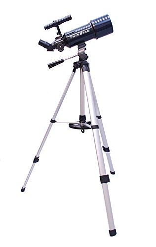Blue AstroVenture 80mm Refractor Telescope with 3MP Digital USB Camera and full-size Tripod by Twin Star
