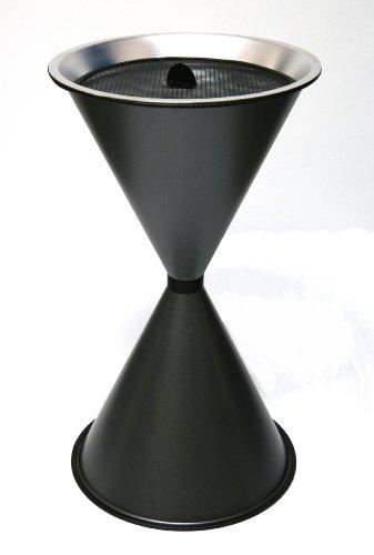 Standaschenbecher Diabola 71x40 cm, graphit (Marke: Szagato) (Ascher, Standascher, Aschenbecher)