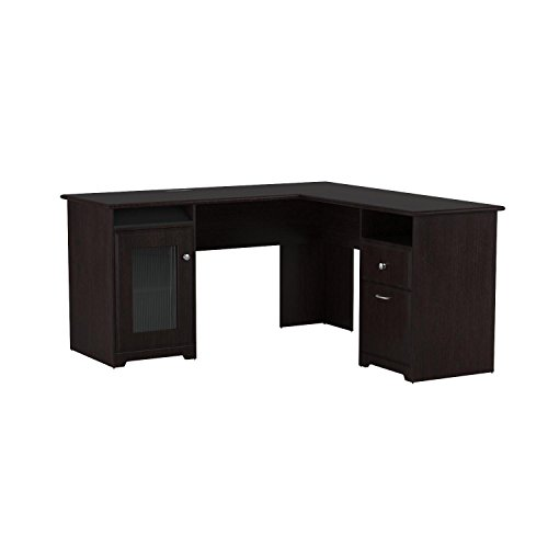 Cabot L Shaped Computer Desk In Espresso Oak Buy Online