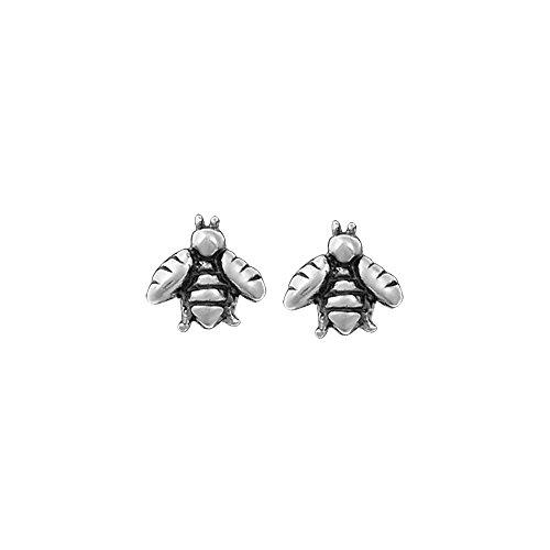 Boma Jewelry Sterling Silver Bee Stud Earrings