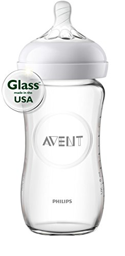 Philips Avent Natural Glass Bottle Baby Gift Set, SCD201/01 by Philips AVENT (Image #2)