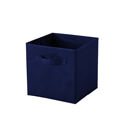 ASSIS Foldable Cloth Storage Cube Basket Bins Organizer Containers Drawers Fabric  Storage Boxes With Dual