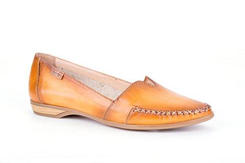 Pikolinos Relax Slipper Bari W0s-4681c1 Scarpe Da Donna In Pelle Mocassino Arancione