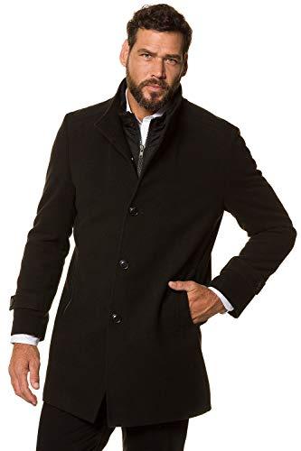 JP 1880 Homme Grandes Tailles Manteau Caban Masculin Chaud, Manches Longues Noir 3XL 717014 10-3XL
