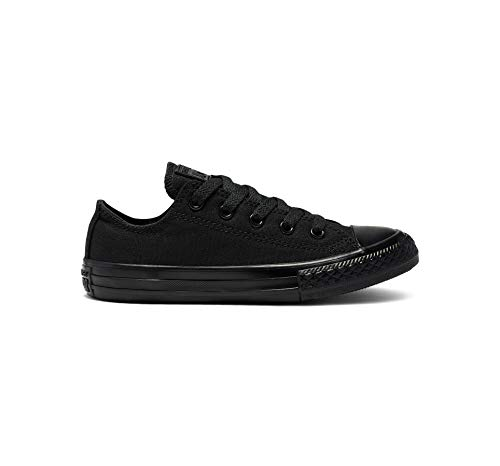 Converse Chuck Taylor All Star Canvas Low Top Sneaker, Black Monochrome, 13.5 M US Little Kid ()