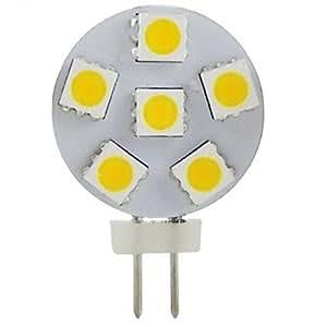 Leedfsw G4 2W 6x5050SMD 200LM 2800-3200K Warm White Light LED Spot Bulb (DC12V)