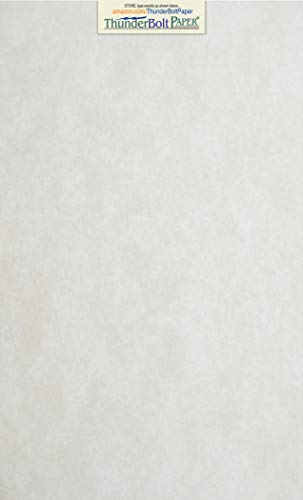 (100 Light Gray Parchment 60# Text (=24# Bond) Paper Sheets - 8.5 X 14 inches Stationery Paper Colored Sheets Legal Size - 60 Pound is Not Card Weight - Vintage Colored Old Parchment Semblance)