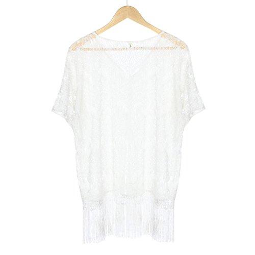 1ef6a2bfa Baño Cortas  Mangas Traje Blusa Para Chaqueta Suave Tankini  Verano Con Sólido  Blancos Pareos ...