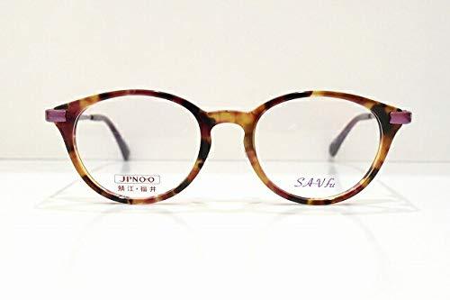 SAV-fu (サヴフ) SA-6225 BRRMメガネフレーム めがね 眼鏡 サングラスボストン型 べっ甲柄可愛いおしゃれ   B07JG4B5GF