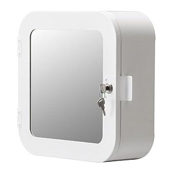 Amazon De Ikea Gunnern Schrank Abschliessbar Weiss 32 X 32 Cm