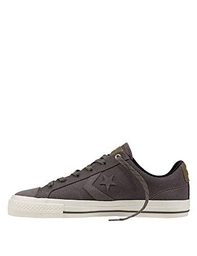 Converse Star Player Premium Leather OX Herren Sneaker Grau