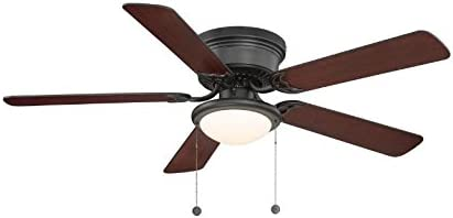 Hampton Bay Hugger 52 en. Níquel cepillado ventilador de techo ...