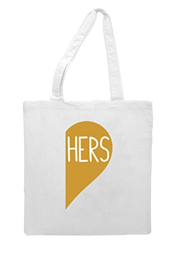 Party Heart Bag Shopper A Gold Matching Hers Tote Engagement Half White Wedding Gift TESqP6c0x