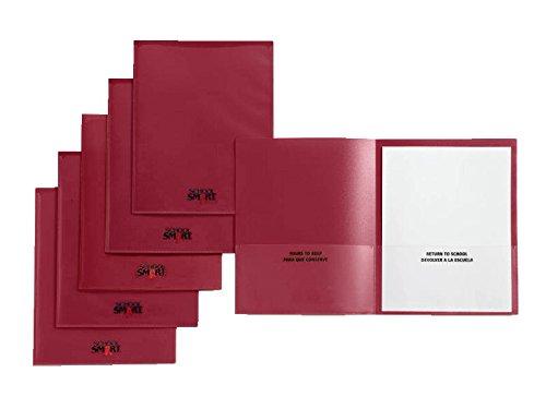 School Smart Take Home Heavy-Duty Folder, Red, Pack of 24 by School Smart