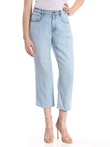 - DKNY Womens Cropped Relaxed Fit Boyfriend Jeans Blue 30