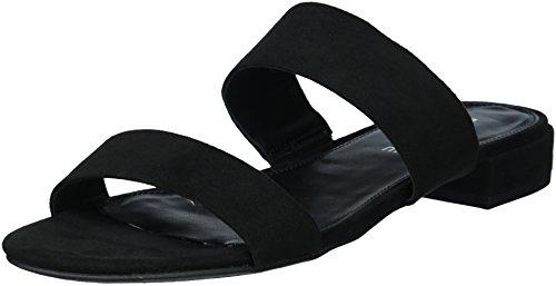 Rampage Women's Ram-Isla Sandal, Black Micro, 10 M US (Rampage Shoes Com)