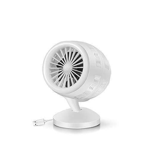 - ZTT Electric Fan Household Small Mini Desktop Desktop Turbine Double Blade Fan Student Dormitory USB Air Convection Circulation Fan,A