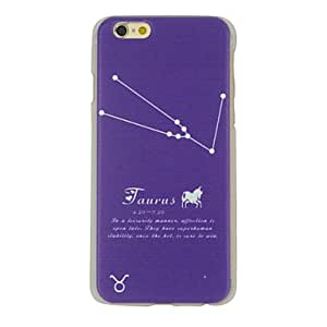 QJM Taurus Pattern Ultrathin PC Hard Back Cover Case for iPhone 6