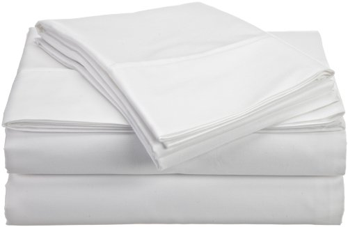 HN International Group Castle Hill 310 Thread Count 100-Percent Egyptian Cotton Solid Sheet Set, Twin Size, - Egyptian Cotton 310 Thread