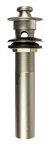 1-1/4 inch x 8 inch PO Plug with Lift/ Turn Stopper with Overflow- All PVD Pearl Nickel