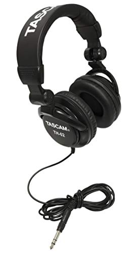 Tascam TH-02 Closed Back Studio Headphones, Black (Best Studio Headphones For Making Beats)