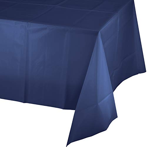 Navy Blue Plastic Tablecloths, 3 ct]()