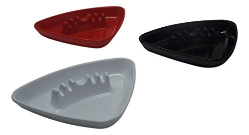 Red Melamine Ashtray - Set of 3 Melamine Ashtrays in Assorted Colors (Triangle)