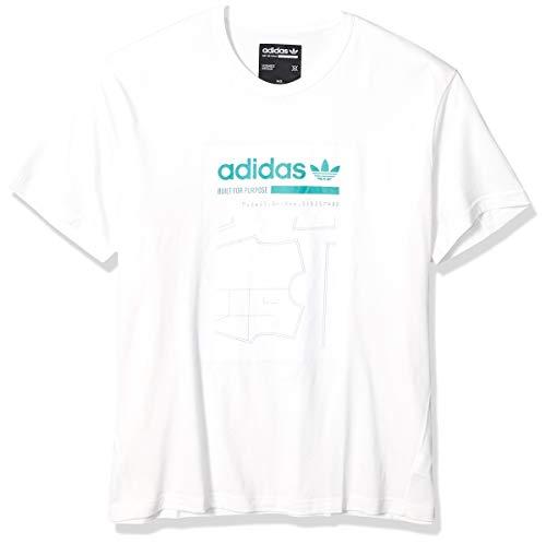 adidas Originals Men's Graphic Tee, Cloud White, Small