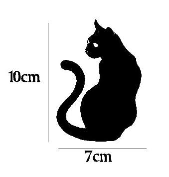 Pegatina vinilo para coche, pared, puerta, nevera, carpeta, etc. Gato negro: Amazon.es: Coche y moto