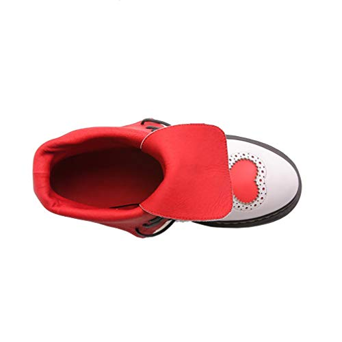 Cordon 2 5 ToeCM B De vaxzpt Bottes Round Vaneel Femme Blanc Serrage Chaussures IqRawYxOOW